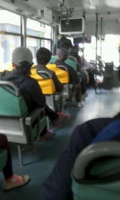 약속이 있어서 버스를타고 갈때 제품을 사용한다.
