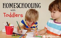 "Homeschooling with Toddlers By Jaimie Bauer ""Teach them to your children, talking about them when you sit at home and when you walk along the road, when you lie down and when you get up"" (Deuteronomy 11:19). I've been told on more than one occasion that I'm lucky to be able to homeschool my kids...... http://mollygreen.com/blog/homeschooling-with-toddlers/"