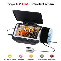 "Eyoyo F06 Ir Fish Finder Detector Underwater Fishing Camera 4.3"" 15M Lcd Tft Monitor Night Vision Waterproof Fix Portable Led"