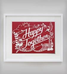 Happy Together Papercut Art by Epic Layers on Scoutmob Shoppe. Crazy-intricate paper cut with a custom background color. Happy Together, How To Make Paper, Paper Gifts, Paper Art, Cut Paper, Paper Crafting, Anniversary Gifts, Wedding Anniversary, Illustrations Posters