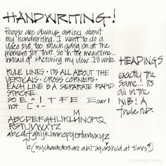 """I get asked ALL the time for something about my handwriting. And I keep saying, """"yes! I know, its on my to do list!"""" I have plans to do a video but right at the moment that isn't an option. But after a request on Instagram this morning for just an alphabet, I did one..."""