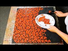 Cherry Blossom Tree. Textured Painting. Tutorial. Speed Demo. Acrylbild Baum by ilonka - YouTube