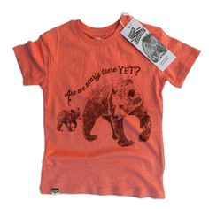 T-Shirt Bears Red by Organic Brand Lion of Leisure