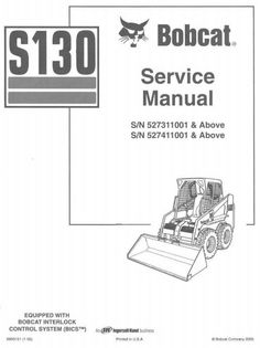 bobcat 7753 skid steer loader service manual pdf bobcat manuals bobcat skid steer loader type s130 s n 527311001 above workshop service manual circuit diagramhigh