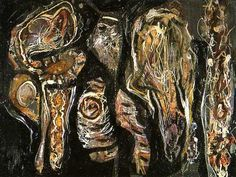william baziotes paintings | dark, drippy automatist painting in 1940-41.