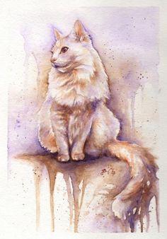Cat watercolors by Braden Duncan