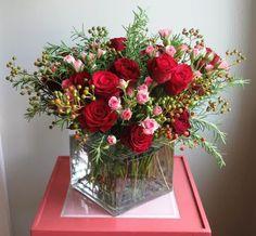 Valentine's Day Flower Bouquet for Girlfriend - http://uniqueflowerarrangement.com/oriental/valentines-day-flower-bouquet-girlfriend/ easy valentine flower arrangements, valentine flower centerpiece ideas, valentine flower delivery san francisco