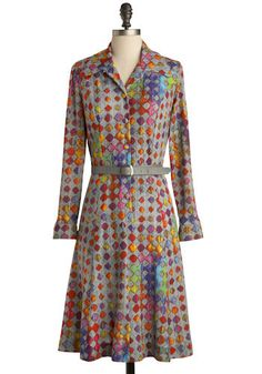 Vintage Fluorescence Dress, #ModCloth