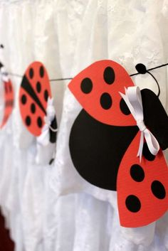 Love how they took these ladybugs and made them into garland! Perfect for the ladybug theme classroom!