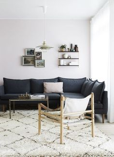 textured, warm, informal - nice, practical palette for family room grouping