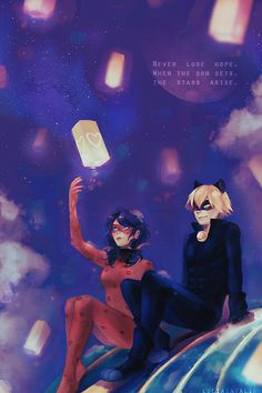 "luciasatalina: ""My piece for the Miraculous Ladybug charity zine, A Little Light ! It is benefiting the victims of Hurricane Matthew and the orders are still on, so if you're interested please check it out ! (i tried to paint for once, look..."
