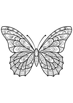 Butterfly Wing Coloring Page Butterfly Wing Coloring Page. butterfly Wing Coloring Page. butterfly Wings Coloring Pages at Getdrawings in butterfly coloring page Butterflies free to color for kids Butterflies Kids Insect Coloring Pages, Butterfly Coloring Page, Butterfly Drawing, Animal Coloring Pages, Mandala Coloring, Butterfly Wings, Coloring Books, Colouring, Mandala Art