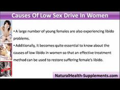 Supplements for low sex drive in women
