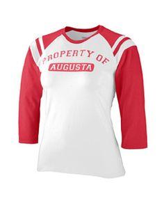 1258 Augusta  Ladies Junior Fit Cotton/Spandex Legacy Tee