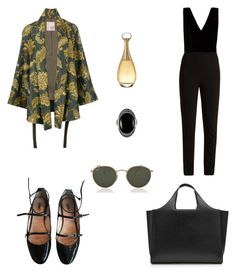 """Untitled #1112"" by elenek1 on Polyvore featuring Elie Saab, Antonio Marras, Miu Miu, Victoria Beckham, Ray-Ban, Christian Dior and Le Vieux"