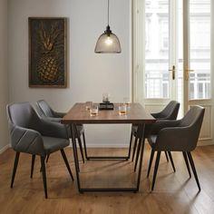 Esstisch in Braun online bestellen Conference Room, Dining Table, Furniture, Home Decor, New Furniture, Dinner Room, Dinning Table, Get Tan, Food