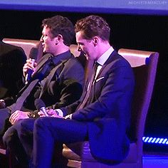 """""""Putin has outlawed swearing in Russia. Any actor that swears will be fined and jailed."""" - Benedict responds; telling it like it is. (.gifset)"""