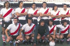 1974. River - Merlo, Jáuregui, J.J.López, Pena, Héctor López, Zuccarini. Mastrangelo, Morete, Fillol, Alonso y Ghiso