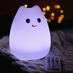 $12.15 USB Rechargeable Cartoon LED Colorful Remote Control Night Light