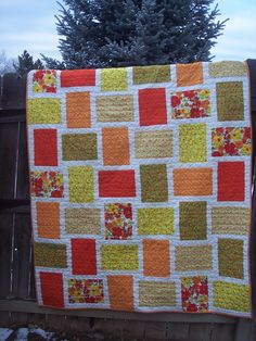 Hot Flash Twin Quilt - Sale. $150.00 USD, via Etsy.