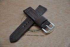 Dark Brown Vintage ammo style handmade leather watch strap 22 mm by CentaurStraps on Etsy Watch Straps, Handmade Leather, Dark Brown, Vintage Fashion, Belt, Watches, Unique Jewelry, Handmade Gifts, Accessories