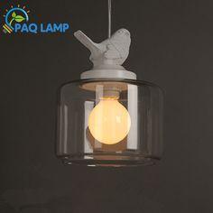 Современный светильники люстры лампы гипсовой смолы птица и стекло тень подвеска изучения droplight из светодиодов светильник(China (Mainland))