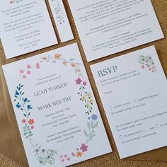 43 Best Colourful Wedding Stationery Designs Images Personalised