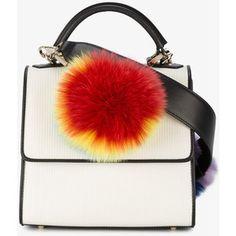 Les Petits Joueurs Mini Alex Shoulder Bag With Rainbow Fur