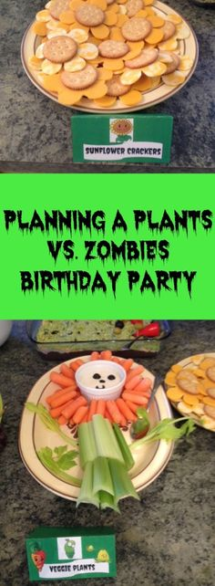 Awesome games, foods, and favors for a Plants vs. Zombies themed birthday party