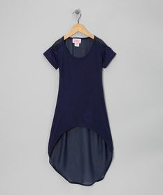 Look what I found on #zulily! Navy Hi-Low Cover-Up - Girls #zulilyfinds