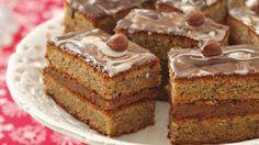 Walnut cake with toffee and chocolate | Ciasto orzechowe z toffi i czekoladą (in Polish)