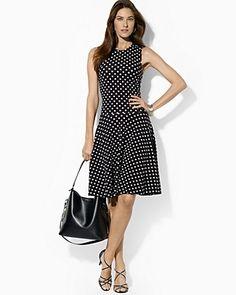 30$ (orig 160$) Lauren Ralph Lauren Polka Dot Flared Dress | Bloomingdale's