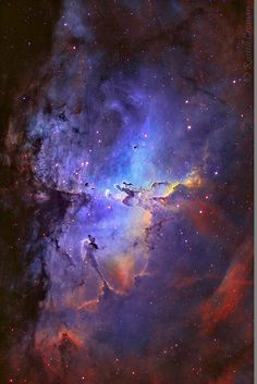 The Eagle Nebula in Mapped Colour- Taken by Russell Croman