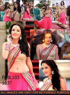 Fabboom Kristina Akheeva Bollywood Light Pink Net Lehenga Choli In Yamla Pagla Deewana 2 Rs 4299/-