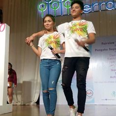 """This is the pretty Kathryn Bernardo and the handsome Daniel Padilla singing a song to the fans during the Pangako Sa 'Yo Thanksgiving Day held at Ayala Fairview Terraces last November 29. Indeed, KathNiel and the cast of """"Pangako Sa 'Yo"""" are grateful to the fans. #KathrynBernardo #TeenQueen #DanielPadilla #KathNiel #KathNielBernaDilla #PangakoSaYo #PSYThanksgivingDay"""