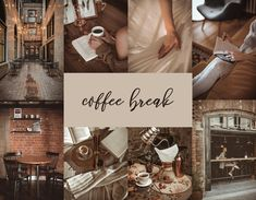 Coffee Break 8 Mobile & Desktop Lightroom Presets, Cozy Preset, Caramel Preset, Coffee Presets, Bronze Preset, Influencer Preset, IG Filters