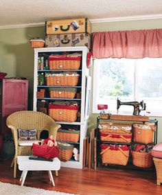 Cool sewing room