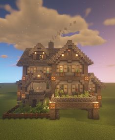 I am usually not that good at building but I really like how this house turned out! Minecraft Mods, Plans Minecraft, Villa Minecraft, Cute Minecraft Houses, Minecraft Structures, Minecraft House Tutorials, Minecraft Houses Survival, Minecraft Houses Blueprints, Minecraft House Designs