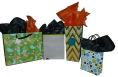 The Gift Wrap Company Bold Graphic Gift Bag and Tissue Set -- Startling review available here  : Wrapping Ideas