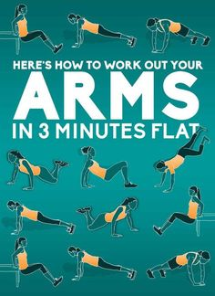 Here's How To Work Out Your Arms In Three Minutes Flat - beginning, intermediate and advanced levels