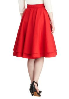 Essential Elegance Skirt in Red, #ModCloth