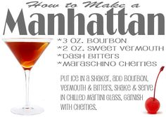 How to make a Manhattan Cocktail #drink