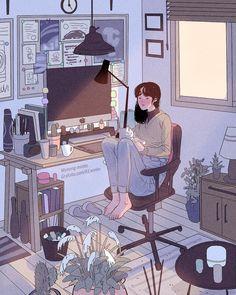 Stay home shit Art Anime Fille, Anime Art Girl, Cartoon Kunst, Cartoon Art, Art And Illustration, Aesthetic Art, Aesthetic Anime, Art Mignon, Afrique Art