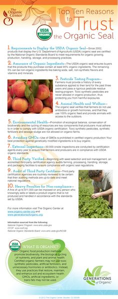 Top Ten Reasons to Trust the Organic Seal