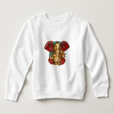 Elephant Head Brass Statue Indian Hindu Temple Art Sweatshirt - toddler youngster infant child kid gift idea design diy