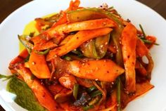 Sweet, sour, and spicy mushrooms with water dropwort Korean Side Dishes, Vegan Side Dishes, Side Dish Recipes, Veggie Recipes, Seafood Recipes, Healthy Dinner Recipes, Asian Recipes, Vegetarian Recipes, Cooking Recipes
