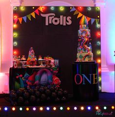 Partylicious Srilanka's Birthday / Trolls - Photo Gallery at Catch My Party 18th Birthday Party Themes, Vintage Birthday Parties, Trolls Birthday Party, Troll Party, Gold Birthday Party, First Birthday Parties, Birthday Party Decorations, 2nd Birthday, First Birthdays