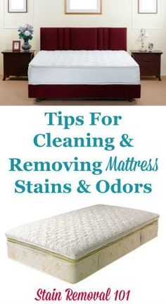how to clean bed mattress stains