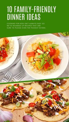 Cooking for kids isn't always easy so we've rounded up 10 delicious dinner ideas that are sure to please even the pickiest eaters Dinner Options, Dinner Ideas, Easy Kid Friendly Dinners, Picky Eaters Kids, Cooking With Kids, Healthy Dinner Recipes, Meal Planning, Meals, Ethnic Recipes