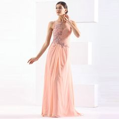 2015 Handmade Floor-Length Beading Chiffon Evening Dresses A-Line Sleeveless Jewel Neck Ruffle Applique Wrapped Prom Dresses